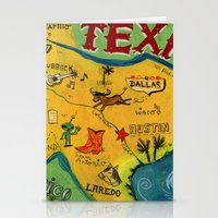 Postcard from Texas print Stationery Cards