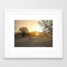 Cold Morning Framed Art Print
