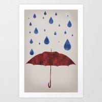 It Will Rain Art Print