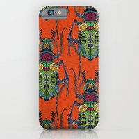 Flower Beetle Orange iPhone 6 Slim Case