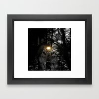 Wolf Your Time Approache… Framed Art Print