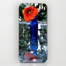 Orange flower reflected iPhone & iPod Skin