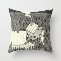 'The Middle Of Nowhere'  Throw Pillow