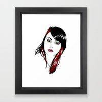 minimal girl 3 Framed Art Print