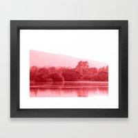 Raspberry Riverbank Framed Art Print