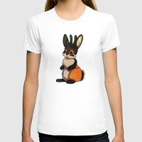 Jackalope Womens Fitted Tee White SMALL