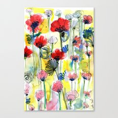 Poppy Floral Canvas Print