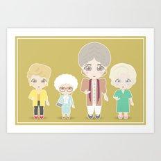 Girls in their Golden Years Art Print