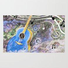Space Guitar Acoustic Rug