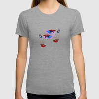 Two Sides Womens Fitted Tee Tri-Grey SMALL