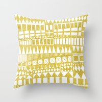 Golden Doodle abstract Throw Pillow