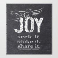 JOY...share It! Canvas Print