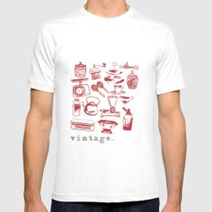 kitchen vintage SMALL Mens Fitted Tee White