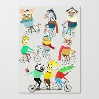 Bikers. Canvas Print