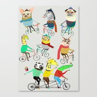Bikers. Canvas Print
