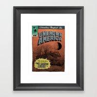 Unknown America Comics #… Framed Art Print