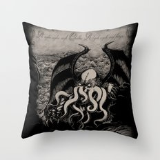 The Rise Of Great Cthulh… Throw Pillow