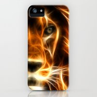 iPhone 5s & iPhone 5 Cases featuring lion  by mark ashkenazi