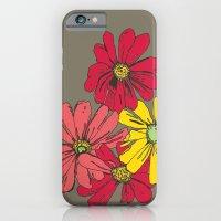 Grey Flowers iPhone 6 Slim Case