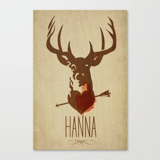 HANNA film tribute poster Canvas Print