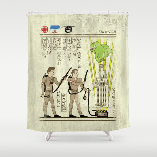 hero-glyphics: Slimed Shower Curtain