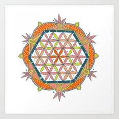 flower of life Art Print