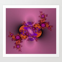 Purple and Orange Fractal 2 Art Print