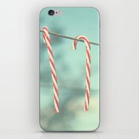 candy cane line iPhone & iPod Skin