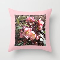 Lenten Roses Blooming in Early Spring Throw Pillow