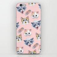 Cat Attack iPhone & iPod Skin