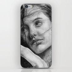 Angelina Jolie Traditional Portrait Print iPhone & iPod Skin