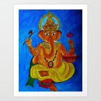 Ganesh, Remover Of Obsta… Art Print