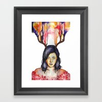 Aubrey Plaza Portrait Framed Art Print
