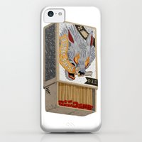 iPhone 5c Cases featuring Burn Shit. by NVM Illustration
