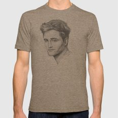Robert Pattinson Mens Fitted Tee Tri-Coffee SMALL