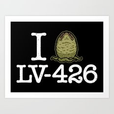 I Love LV-426 Art Print