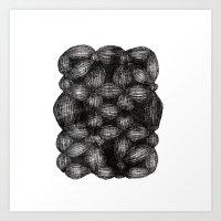 Drawing 5 White Art Print
