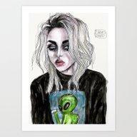 Frances Bean Cobain No,6 Art Print