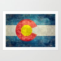 Colorado State Flag Art Print