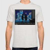 Fight Club Mens Fitted Tee Silver SMALL