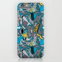 iPhone Cases featuring SHARK WEEK! by Chris Piascik