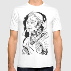 Psychobilly SMALL White Mens Fitted Tee