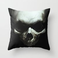 Dark Skull Throw Pillow