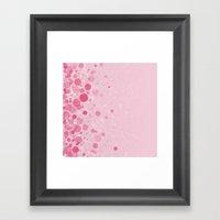 Glitters And Dots Framed Art Print
