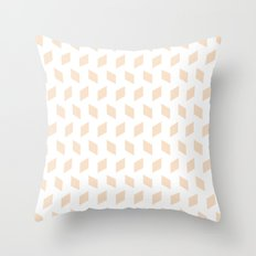 rhombus bomb in linen Throw Pillow