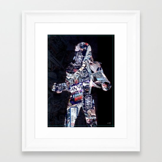Cut StarWars Blister Collage 3 Framed Art Print