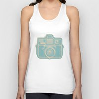 I Still Shoot Film Holga Logo - Reversed Turquoise/Tan Unisex Tank Top