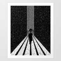 Winter's Long Road Art Print