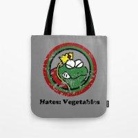 Hates: Vegetables (Battl… Tote Bag