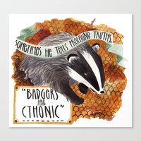 Badgers Canvas Print